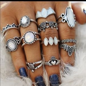 Jewelry - NEW Sexy and Edgy Set of Fabulous Boho Rings